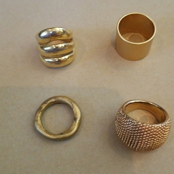 Madewell Jewelry 4 Faux Gold Rings Poshmark